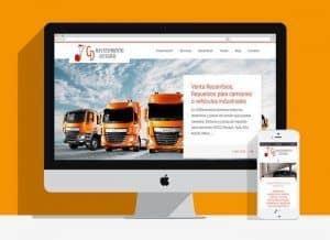 Una página web con WordPress y diseño profesional