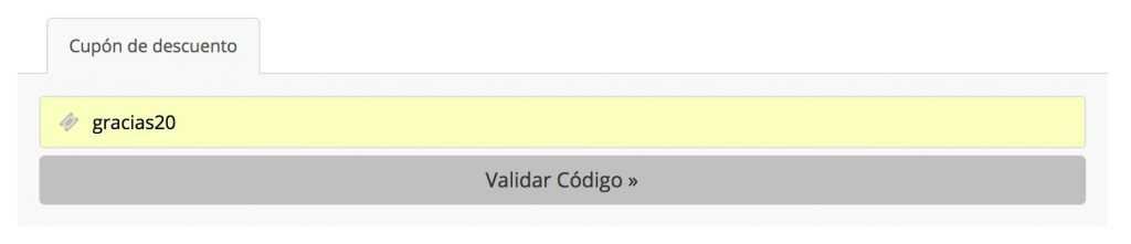Cupón descuento WebEmpresa - Gracias20