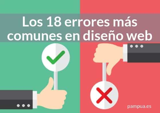 Los 18 errores más comunes en diseño web