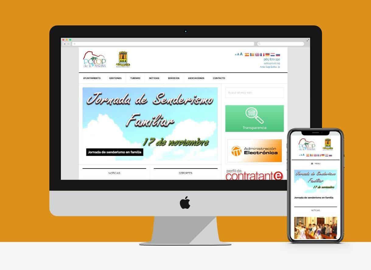 Web del Ayuntamiento de Polop