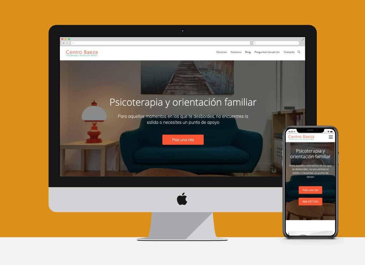 Capturas de pantalla de la web de CentroBaeza.es