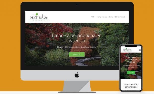 Diseño web empresa de jardinería